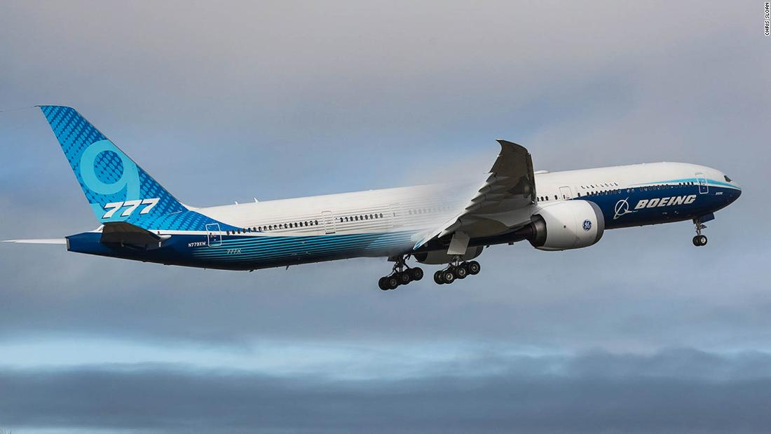 Boeing's huge 777-9X airplane takes its first flight