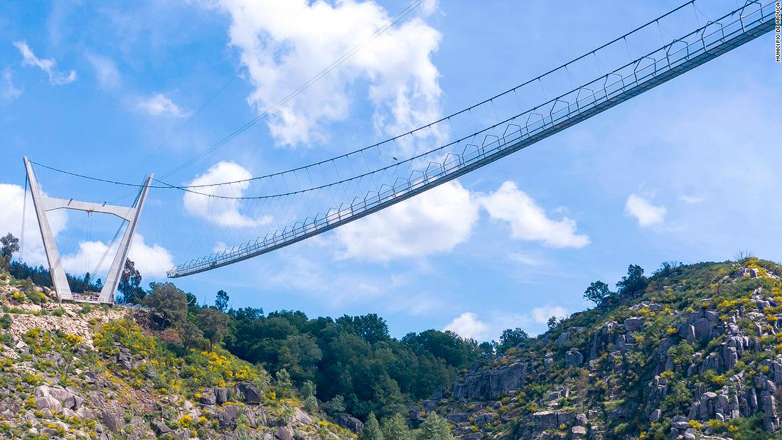 World's longest pedestrian suspension bridge is opening in Portugal