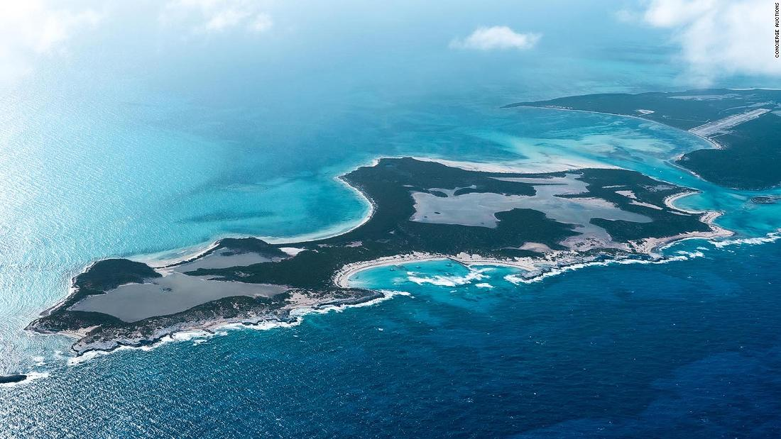 Beautiful private island in Bahamas goes up for sale