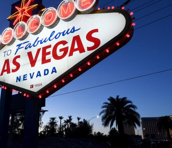 Las Vegas lights up again with plans to fully reopen in June
