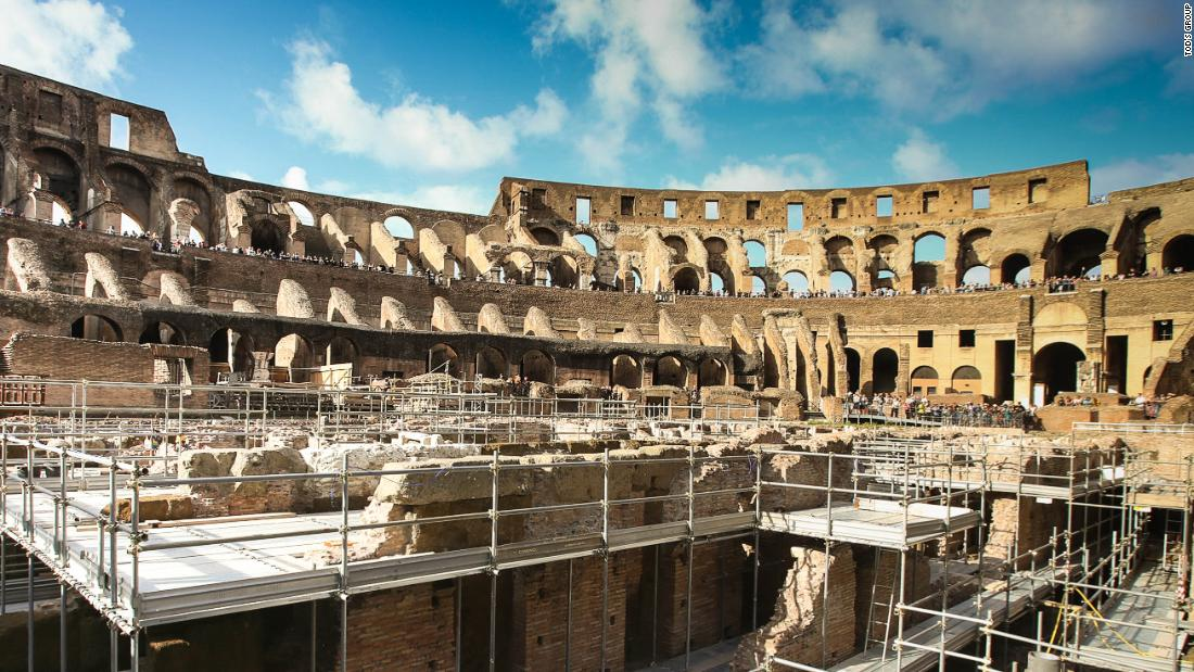 The Colosseum in Rome opens its underground levels